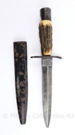 Wo1 en Wo2 Duitse originele Stiefelmesser - maker Demag Duisburg - 15,5 cm - origineel