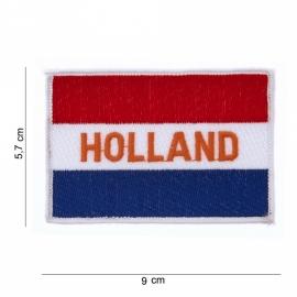 "Uniform landsvlag Nederland ""Holland"" vlag voor uniform - met tekst ""Holland"" - medium - 9 x 5,7 cm."
