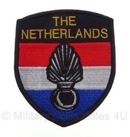 KMAR Koninklijke Marechaussee missie embleem - met klittenband - 9,5 x 8 cm