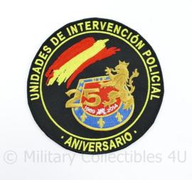 Spaans politie Embleem Unidades de Intervencion Policial UIP - Aniversario 25 -  diameter 12 cm - origineel