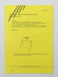 KL Claymore Mine Landmacht Instructiekaart Scherflading Nr 269 met Ontsteeksysteem Nr 605 - IK 9-9 - afmeting 15 x 21 cm - origineel