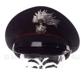 Italiaanse Carabinieri politie platte pet - met zeldzame insigne - maat 55 of 59 - origineel