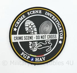Belgische FGP HAV Crime Scene Investigation - Do Not Cross - met klittenband - diameter 9 xm - oeifinwwl