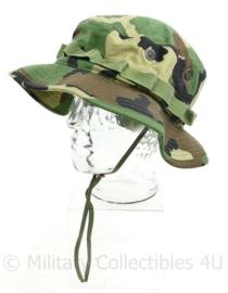 Korps Mariniers en US Army bush hat Woodland type 2 , hat sun hot weather - Ribstop - maat 7,5 - nieuw - origineel