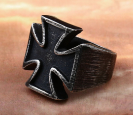 Duitse ring met Duits Kruis - size 9 of 10