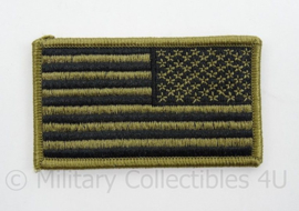 US Army uniform flag reversed od green - afmeting 8 x 5 cm - origineel