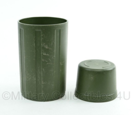 KL Nederlandse leger thermosfles buitenkant omhulsel SET - onderkant en dop - 17 x 11 cm - origineel