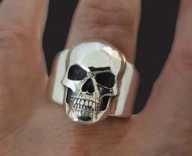 Doodskop Ring totenkopf ring  - size 8 tm. 10