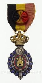 """Belgische Leopold medaille """"ereteken van arbeid"""" 1ste klasse - 9 x 4 cm - origineel"""