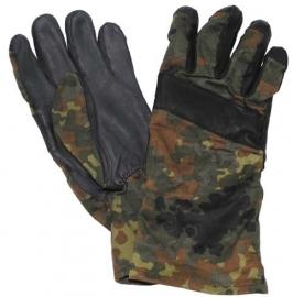 Gevechts handschoenen zomer - BW flecktarn - maat 8 of 8,5 - origineel