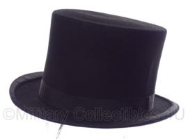Hoge heren hoed - zwart - Antiek - maat 57 - A.Spaander - origineel