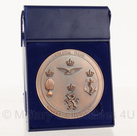 KL Nederlandse leger Welkom Thuis penning Thuisfront 7 cm. in doosje - origineel