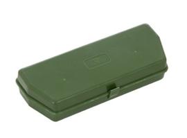 Britse hardcover brillenetui Groen Mark 5  - 15,5 x 5,5 x 3 cm. - origineel leger