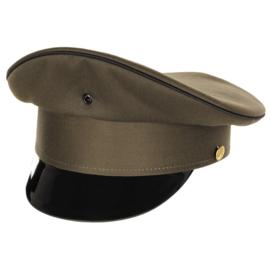 Militaire platte pet - GROEN - licht gebruikt - 53 tm. 58 cm.  - origineel