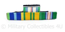Nederlandse medaille baton voor 4 medailles  : HVN3 /  Marinemedaille /  Vierdaagse Kruis /  United Nations Cambodja - 8,5  x 3 cm - origineel