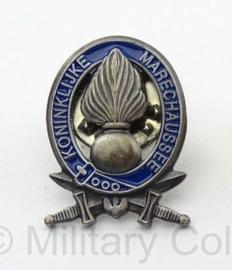 Kmar Koninklijke Marechaussee speld zilverkleurig - 1,8 x 1,4 cm. origineel