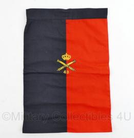 Nederlands leger halsdoek 43 Afdeling Veldartillerie  - rood/zwart -  origineel