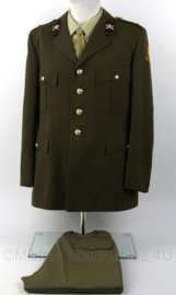 KL DT set jas met broek - met Kraagspiegel Veldartillerie - 101 gevechtssteun Brigade - maat 54 - origineel