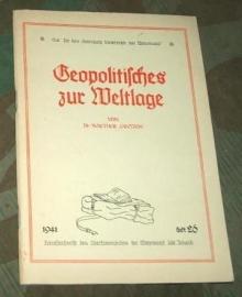Tornisterschrift - heft 26 Geopolitisches zur Weltlage - origineel 1941