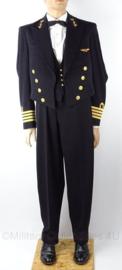 """KM uniform set """"KTZ Kapitein ter Zee"""" met Luchtmacht wing, jasje, broek - maat Medium - origineel"""