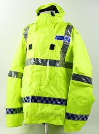 Britse Politie Police geel jack met capuchon en portofoonhouders High Visability  - maat XXL  - nieuw - origineel