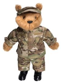 Teddybeer groot 50cm met Multicamo uniform