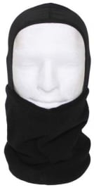 Balaclava FLEECE bovenzijde gezicht open - zwart