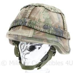 Korps Mariniers Composiet helm met overtrek - helm met parasluiting - gedragen  - origineel