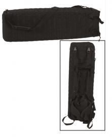 Geweer tas geweer foudraal - 94 x 26 cm. - Rifle case en rugzak combi - zwart