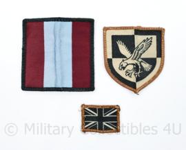 Britse leger insigne set voor op het desert uniform - 3 delig - origineel