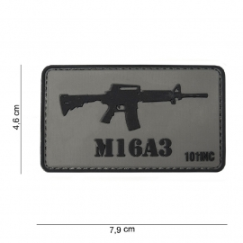 Embleem 3D PVC - met klittenband - M16 A3 patch - 7,9 x 4,6  cm