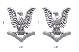 US Navy USN Rank pair Petty officer Third Class - metaal