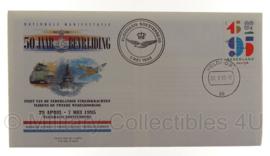 Postzegel herdenkingsenvelop 50 jaar bevrijding - origineel