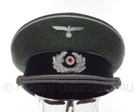 Schirmmütze infanterie - grof wol met witte bies - maat 56 tm. 59