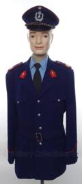 Belgische Rijkswacht België uniform SET jasje, overhemd, stropdas en pet - met originele insignes - maat L / XL- origineel