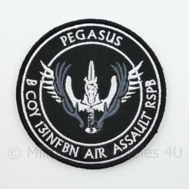 Pegasus B Coy 13INFBAT Air Assault RSPB embleem - met klittenband - diameter 9 cm