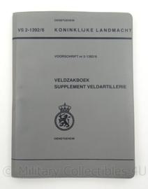 KL Landmacht Veldzakboek Supplement Veldartillerie - Voorschrift VS2-1392/6 - afmeting 13 x 19 cm - origineel