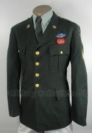US Army Class A jacket - Dress jacket modern - donkergroen - met insignes naar keuze - origineel