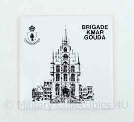 KMAR Marechaussee wandbord Brigade kmar Gouda - 15x15x0,5 cm -origineel