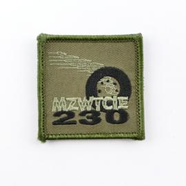 KL Nederlandse leger 230 MZWTCIE 230 Middelzware Transportcompagnie borstembleem - met klittenband - 5 x 5 cm - origineel