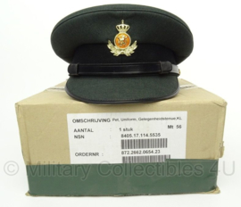 KL Hassing DT2000 GLT platte pet - onderofficieren - maat 56 MET de Originele DOOS - origineel