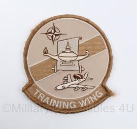 LuchtmachtTraining Wing Nato Awacs embleem DESERT - met klittenband -  10 x 9 cm - origineel
