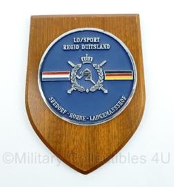KL LO/Sport regio Duitsland wandbord - Seedorf Hohne Langemannshof - afmeting 19 x 14 x 1 cm - origineel
