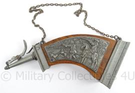 Antieke wapen kruidhoorn - afmeting 26 x 10 x 5 cm - replica