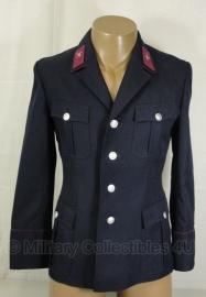 Duitse brandweer DDR NVA Feuerwehr uniform jas donkerblauw -  origineel