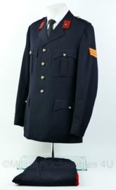 Korps Mariniers Barathea set - speciale KIM uitvoering - Maat Jas 51, broek 50 1/2 - Origineel