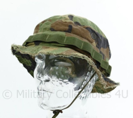 Korps Mariniers Boonie Bush hat in US Woodland camo - ingekort model voor Special Forces - maat 58 - origineel