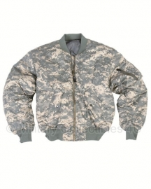 US flight jacket MA1 - ACU camo -