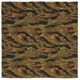 Bandana doek 55 x 55 cm -  Special Forces Tiger stripe camo