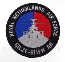 "KLu Koninklijke Luchtmacht Gilze rijen AB ""Royal Netherlands Air Force"" -  met klittenband - diameter 10 cm"